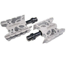 "Wellgo WR-1 MTB Mountain / Road Bike 9/16"" Aluminum Pedals Platform - White"