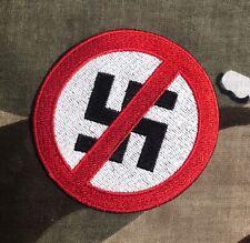 Anti - Nazi Embroidered Patch NO23P Anti-fascist Action Anti Trump