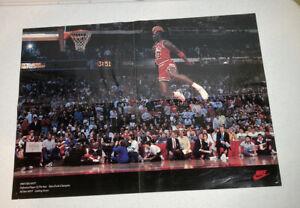 Michael Jordan Wheaties Poster 1989 #1 Nike Slam Dunk 1988 NBA MVP