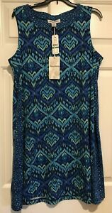 NWT! Tommy Bahama Sundress Women's Size Large Blue Imali Ikat Short
