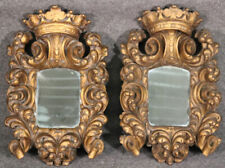 New listing Pair of Heavily Carved Gilded Italian Rococo Mirrors, C1920