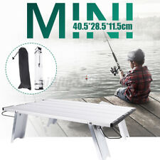 Mini Portable Camping Metal Table Lightweight Foldable Roll up Camping Fishing