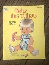 "Vintage 1979 ""Baby This 'n That� Paper Doll Book Unused, Whitman"