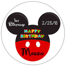 20 MICKEY MOUSE BIRTHDAY PARTY FAVORS TAGS STICKERS