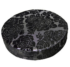 *Limit Stock*Mq05r Rose Metallic Black Velvet Round Seat Box Cushion Cover Case