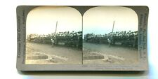 Vintage Stereoview HAWAII SUGAR CANE PLANTATION WORKERS TRANSPORT Keystone