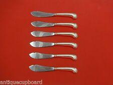 """Onslow by Tuttle Sterling Silver Trout Knife Set 6pc. HHWS  Custom Made 7 1/2"""""""