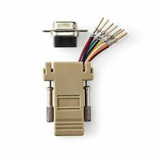 EG /_ RS232 DB9 9-Pin porta seriale a RJ45 Donna Convertitore Adattatore Ethernet Donna