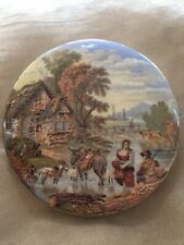 Rare Antique Prattware Pot Lid Fording The Stream