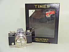 NOS - Timex Mini Camera Desktop Clock w/ Box and Tag - Loose Face