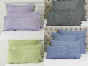LUXURY GINGHAM CLASSIC CHECK 2X HOUSEWIFE PILLOW CASE COVER PAIR (50 x 75 CM)