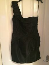 BNWT Brand New Oasis Ladies Black One Shoulder Beautiful Dress - Size 12