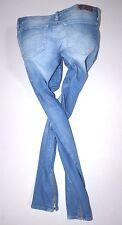 Señoras DIESEL Grupee-Zip 0602C tobillo delgados elastizados Jeans Mujer W30 L34 Talla 12