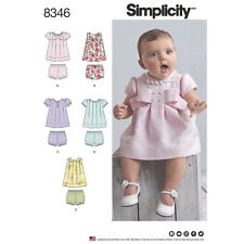 SEWING PATTERN! MAKE BABY GIRL DRESSES~PANTIES! PREEMIE-24 LB! SUMMER CLOTHES