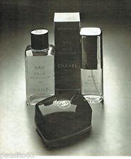 PUBLICITE ADVERTISING 036  1979  Chanel eau de Cologne