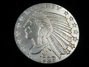 US-6963,64,65,66 1929 Indian Heae 1 Oz Silver Round