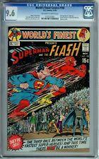 WORLD'S FINEST COMICS 198 CGC 9.6 3rd SUPERMAN FLASH race SCI-FI cover DC 1970