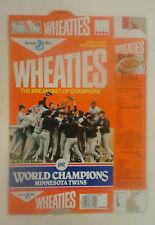 Wheaties Cereal Box, 1987 Minnesota Twins World Series Champions