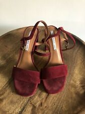 Other Stories Red Velvet Shoes SIZE 38