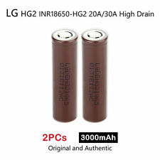2 x LG HG2 INR18650-HG2 3000mAh 20/30A High Drain Rechargeable Lion Battery 3.7V