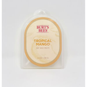 Burts Bees Natural Soy Wax Melts 4 oz Tropical Mango