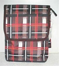 Brown/Red Multi Colored Plaid iPad Case/Bag New In Package