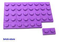 LEGO / 1x2 PLAQUES VIOLET / 20 pièces