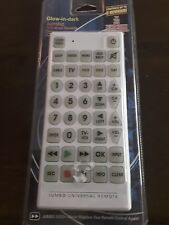 Jumbo Size Universal Remote Glow In The Dark Controls 8 Devices NIB