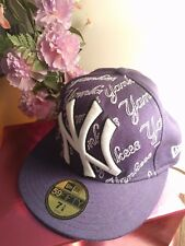 New Era 59Fifty Fitted Cap MLB New York Yankees NY 7 1/8 Purple Wool White