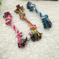 Colorful Puppy Pet Dog Cotton Knot Braided Colorful Teeth Clean Chew Toys Rope