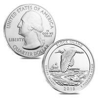 Lot of 2 - 2018 5 oz Silver ATB Rhode Island Block Island National Wildlife
