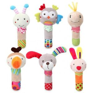 Baby Animal Rattle For Newborn, Soft Toy, Squeaky, Only Pay P&P on 1st Item