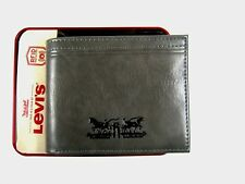 Levi's Men's Bifold Leather Wallet Gray Security 31LP220Z01 RFID Blocking