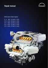 MAN V8-900 V10-1100 V12-1360 V12-1550 V12-1224 Marine Diesel Engine Manual 0408