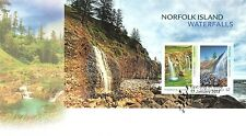 AUSTRALIA 2017-NORFOLK ISLAND WATERFAL (MINI SHEET) FIRST DAY COVER. UNADDRESSED