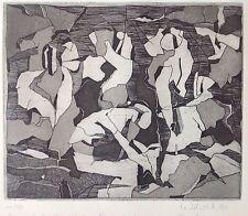 Heiner ULRICH (1944) Gravure Signée 50ex.1990 abstrait Eau Forte Roméo Hamlet