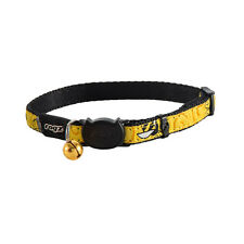 "Rogz Cat Collar Safeloc Buckle Fancycat - Small Neck 10""-12"" Yellow Heart Tails"