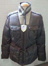 Fame ffcc Damen Daunen Jacke Modell 2500,dunkelbraun,GR.L UVP 449€ m.Leder/Pelz