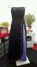 """Morgan and Co"" Black & Purple Evening/Gothic Wedding Dress (Size 12)"