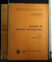 LEZIONI DI ANALISI MATEMATICA. Vol 2. Ghizzetti, Rosati. Veschi.