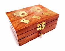 Juegos De Madera Hecho a mano con jugando a las Cartas Y Domino en caja de almacenamiento de Juego Diseño 2