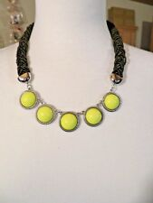 """Necklace/Earring Set 18-21"""" New Talbot Yellow Cabochon"""