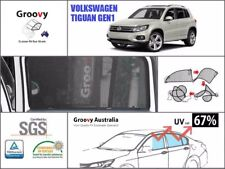 Groovy Car Sun Shades VOLKSWAGEN VW TIGUAN. 4 Pcs Rear Door Windows Mesh
