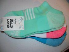 Happy Style Socks Sport Low Cut Socks 3 Pair Shoe Size 5.5-9.5 NEW #29