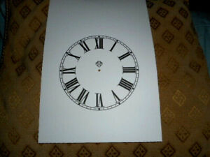 "Ansonia Steeple PAPER (CARD) Clock Dial - 4 1/4"" MINUTE TRACK - Roman- MATT"