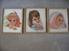 Three Vintage Northern Tissue Framed Pictures! Two have glass!
