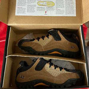 Specialized TAHO Atb Tan & Brown Mountain Cycling Shoes Woman's 9 EU size 40