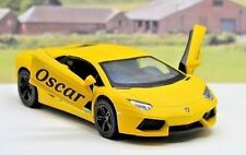 Personalised Any Name Gift Yellow Lamborghini Boys Dads Toy Car Stocking Filler