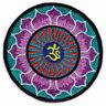 Om Symbol Lotus-Blüte Blume Yoga Goa Mandala Aufnäher Aufbügler Patch Bügelbild