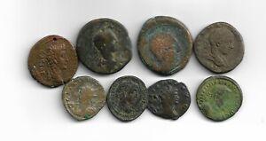 Lot de 8 monnaies romaines